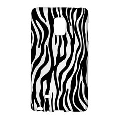 Zebra Stripes Pattern Traditional Colors Black White Galaxy Note Edge by EDDArt