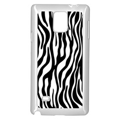Zebra Stripes Pattern Traditional Colors Black White Samsung Galaxy Note 4 Case (white) by EDDArt