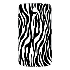 Zebra Stripes Pattern Traditional Colors Black White Samsung Galaxy Mega I9200 Hardshell Back Case by EDDArt
