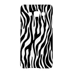Zebra Stripes Pattern Traditional Colors Black White Samsung Galaxy A5 Hardshell Case  by EDDArt