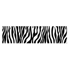 Zebra Stripes Pattern Traditional Colors Black White Satin Scarf (oblong) by EDDArt