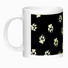 Footprints Dog White Black Night Luminous Mugs by EDDArt