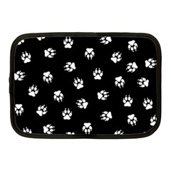 Footprints Dog White Black Netbook Case (medium)  by EDDArt
