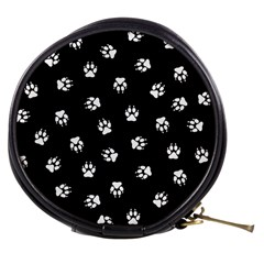 Footprints Dog White Black Mini Makeup Bags by EDDArt