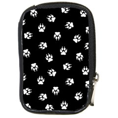 Footprints Dog White Black Compact Camera Cases by EDDArt