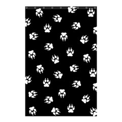 Footprints Dog White Black Shower Curtain 48  X 72  (small)  by EDDArt
