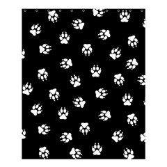 Footprints Dog White Black Shower Curtain 60  X 72  (medium)  by EDDArt