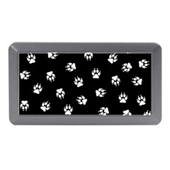 Footprints Dog White Black Memory Card Reader (mini) by EDDArt