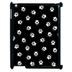 Footprints Dog White Black Apple Ipad 2 Case (black) by EDDArt