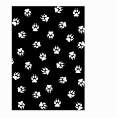 Footprints Dog White Black Large Garden Flag (two Sides) by EDDArt