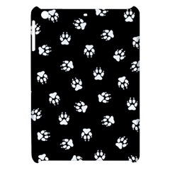Footprints Dog White Black Apple Ipad Mini Hardshell Case by EDDArt