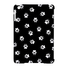 Footprints Dog White Black Apple Ipad Mini Hardshell Case (compatible With Smart Cover) by EDDArt