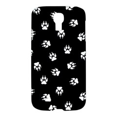 Footprints Dog White Black Samsung Galaxy S4 I9500/i9505 Hardshell Case by EDDArt