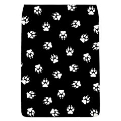 Footprints Dog White Black Flap Covers (l)  by EDDArt