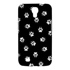 Footprints Dog White Black Samsung Galaxy Mega 6 3  I9200 Hardshell Case by EDDArt