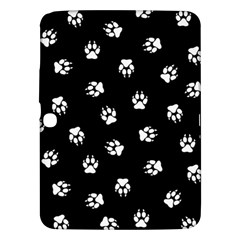 Footprints Dog White Black Samsung Galaxy Tab 3 (10 1 ) P5200 Hardshell Case  by EDDArt