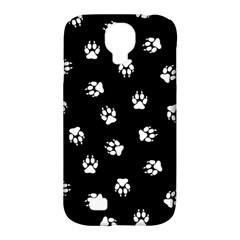 Footprints Dog White Black Samsung Galaxy S4 Classic Hardshell Case (pc+silicone) by EDDArt