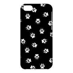 Footprints Dog White Black Apple Iphone 5c Hardshell Case by EDDArt
