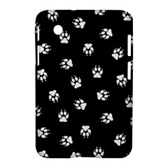 Footprints Dog White Black Samsung Galaxy Tab 2 (7 ) P3100 Hardshell Case  by EDDArt