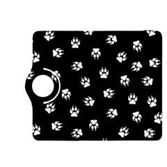 Footprints Dog White Black Kindle Fire Hdx 8 9  Flip 360 Case by EDDArt
