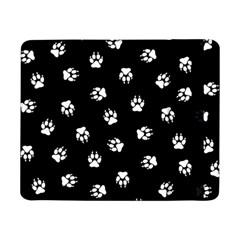 Footprints Dog White Black Samsung Galaxy Tab Pro 8 4  Flip Case by EDDArt