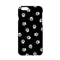 Footprints Dog White Black Apple Iphone 6/6s Hardshell Case by EDDArt
