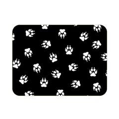 Footprints Dog White Black Double Sided Flano Blanket (mini)  by EDDArt