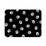 Footprints Dog White Black Double Sided Flano Blanket (Mini)  35 x27 Blanket Front