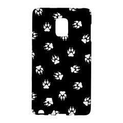 Footprints Dog White Black Galaxy Note Edge by EDDArt