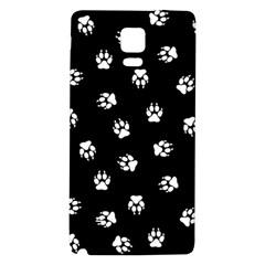 Footprints Dog White Black Galaxy Note 4 Back Case by EDDArt