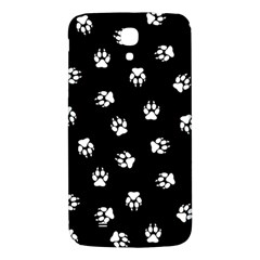 Footprints Dog White Black Samsung Galaxy Mega I9200 Hardshell Back Case by EDDArt