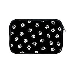 Footprints Dog White Black Apple Macbook Pro 13  Zipper Case by EDDArt