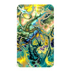 Flower Power Fractal Batik Teal Yellow Blue Salmon Memory Card Reader by EDDArt