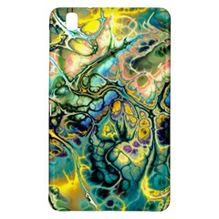 Flower Power Fractal Batik Teal Yellow Blue Salmon Samsung Galaxy Tab Pro 8 4 Hardshell Case by EDDArt