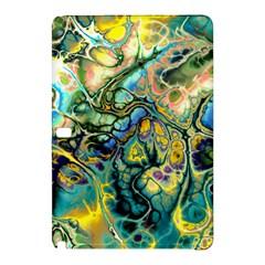 Flower Power Fractal Batik Teal Yellow Blue Salmon Samsung Galaxy Tab Pro 12 2 Hardshell Case by EDDArt
