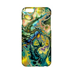 Flower Power Fractal Batik Teal Yellow Blue Salmon Apple Iphone 6/6s Hardshell Case by EDDArt