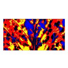 Fire Tree Pop Art Satin Shawl
