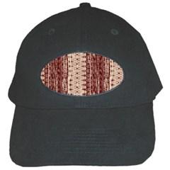Wrinkly Batik Pattern Brown Beige Black Cap by EDDArt