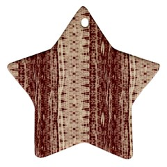 Wrinkly Batik Pattern Brown Beige Ornament (star) by EDDArt