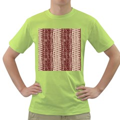 Wrinkly Batik Pattern Brown Beige Green T Shirt by EDDArt