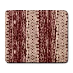 Wrinkly Batik Pattern Brown Beige Large Mousepads by EDDArt