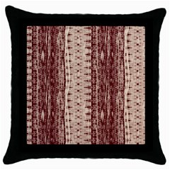 Wrinkly Batik Pattern Brown Beige Throw Pillow Case (black) by EDDArt