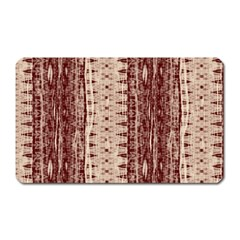 Wrinkly Batik Pattern Brown Beige Magnet (rectangular) by EDDArt