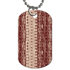 Wrinkly Batik Pattern Brown Beige Dog Tag (two Sides) by EDDArt