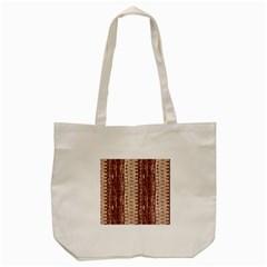 Wrinkly Batik Pattern Brown Beige Tote Bag (cream) by EDDArt