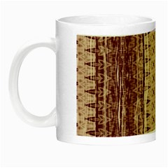 Wrinkly Batik Pattern Brown Beige Night Luminous Mugs by EDDArt