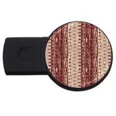 Wrinkly Batik Pattern Brown Beige Usb Flash Drive Round (4 Gb) by EDDArt