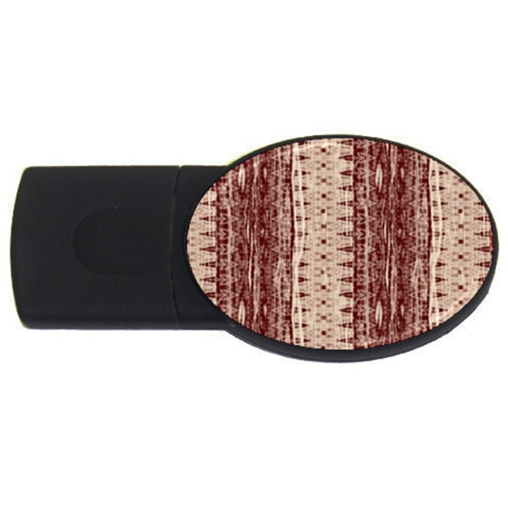 Wrinkly Batik Pattern Brown Beige USB Flash Drive Oval (4 GB)