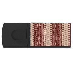 Wrinkly Batik Pattern Brown Beige Usb Flash Drive Rectangular (4 Gb) by EDDArt