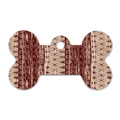 Wrinkly Batik Pattern Brown Beige Dog Tag Bone (two Sides) by EDDArt